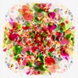 abstrakcjonistycznej sztuki kwiat Obrazy Royalty Free