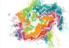 Abstrakcjonistycznej sztuki nakreślenia tekstura Kolorowe linie cyfrowo rysować struktura kolorowa nowożytna grafika abstrakcjoni obraz royalty free