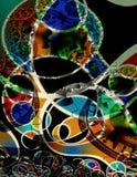 abstrakcjonistycznej sztuki nowożytny pieniądze Obraz Stock