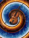 abstrakcjonistycznej sztuki nowożytny skrzypce Zdjęcia Royalty Free