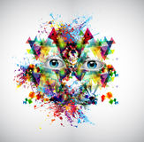 Abstrakcjonistycznej sztuki obrazek Obraz Stock