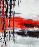 Abstrakcjonistycznej sztuki obrazu obcieknięcie Zdjęcie Royalty Free