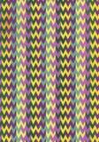 Abstrakcjonistycznej sztuki szewronu akwareli wzór geometryczny tło Pasiasta zakłopotana tło tekstura broderia plamy farby ilustracji
