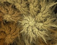 abstrakcjonistycznej sztuki sztuczne płomienia komputerowy fractal wywołało spiralę iteratywną obraz naboje Ilustracja Wektor