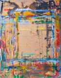 abstrakcjonistycznej sztuki tła grafiki grunge Z różnymi kolorów wzorami Obrazy Stock