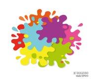 Abstrakcjonistycznej sztuki tło robić farba dostrzega i bryzga Jaskrawi kolory ilustracji