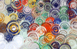 Abstrakcjonistycznej sztuki zawijasa kolorowy tło & tapeta Fotografia Stock