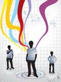 abstrakcjonistycznej tła chłopiec kolorowa grunge fala Zdjęcia Royalty Free