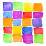 abstrakcjonistycznej tła kolorowej farby szorstkie próbki Obrazy Royalty Free