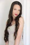 abstrakcjonistycznej tła panny młodej sukni dziewczyny ślubni potomstwa Fotografia Royalty Free