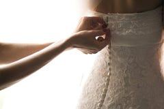 abstrakcjonistycznej tła panny młodej sukni dziewczyny ślubni potomstwa Obrazy Stock