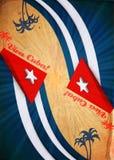 abstrakcjonistycznej tła twórczości Cuba brudny viva Obrazy Stock
