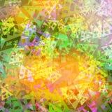 Abstrakcjonistycznej tło kolorów żywej tekstury trójgraniaści kształty Obraz Royalty Free