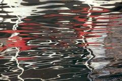 Abstrakcjonistycznej tło tekstury czerwony biel woda Zdjęcia Stock
