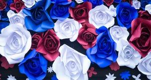 Abstrakcjonistycznej tapetowej tęczy róży kwiatu papieru Kolorowy tło Obrazy Royalty Free