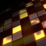 Abstrakcjonistycznej techniki żółty tło w perspektywie Futurystyczny technologii cyfrowej tło również zwrócić corel ilustracji we Fotografia Royalty Free