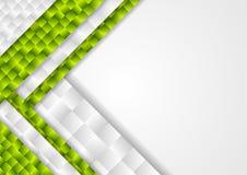 Abstrakcjonistycznej techniki korporacyjnej zieleni mozaiki popielaty tło Fotografia Stock