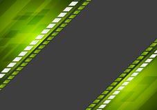 Abstrakcjonistycznej techniki korporacyjny zielony czarny tło Fotografia Royalty Free