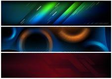 Abstrakcjonistycznej techniki sztandaru Futurystyczny set ilustracja wektor