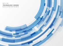 Abstrakcjonistycznej technologia błękitnego lampasa linii geometryczny tło royalty ilustracja
