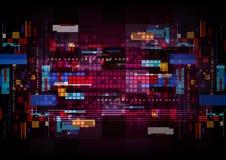 Abstrakcjonistycznej technologia cyfrowa komputerowego przerobu dane tła futurystycznej sieci komunikacyjny projekt Fotografia Royalty Free