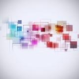 Abstrakcjonistycznej technologii multicolor tło Obraz Royalty Free