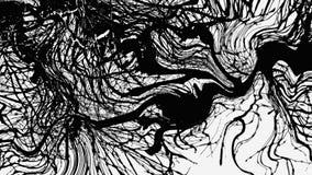 Abstrakcjonistycznej tekstury psychodeliczny czarny i biały Zdjęcie Stock