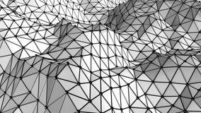 Abstrakcjonistycznej trójbok siatki geometryczny tło ilustracja wektor