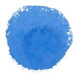 Abstrakcjonistycznej wektorowej akwareli punktu błękitny sztandar Obraz Royalty Free