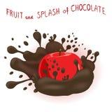 Abstrakcjonistycznej wektorowej ikony ilustracyjny logo dla całego dojrzałego owocowego jabłka Fotografia Stock