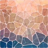 Abstrakcjonistycznej wektorowej mozaiki kolorowy tło Obrazy Royalty Free