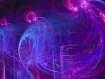 Abstrakcjonistycznej wibrującej cyfrowej płomienia wybuchu fantazi cząsteczki cybernetycznego projekta tekstury fractal futurysty ilustracja wektor