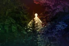 abstrakcjonistyczni Świąt tło Zdjęcia Royalty Free