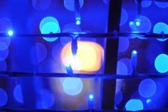 abstrakcjonistyczni świąteczne lampki Fotografia Royalty Free