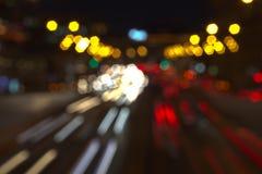 Abstrakcjonistyczni światła ruchu Zdjęcia Royalty Free