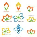 Abstrakcjonistyczni acorn logowie - firma logowie Obraz Stock