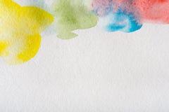 Abstrakcjonistyczni akwarela punkty malowali tekstury tło royalty ilustracja