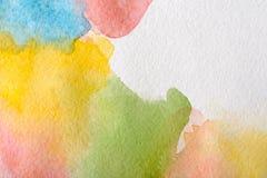 Abstrakcjonistyczni akwarela punkty malowali tekstury tło ilustracji