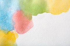 Abstrakcjonistyczni akwarela punkty malowali tekstury tło ilustracja wektor
