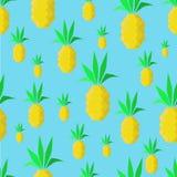 Abstrakcjonistyczni ananasy ilustracja wektor
