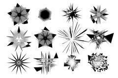 Abstrakcjonistyczni artystyczni kształty ustawiają 1 Obrazy Royalty Free