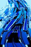 Abstrakcjonistyczni błękitów bloki Zdjęcie Royalty Free