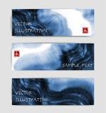 Abstrakcjonistyczni błękitnego atramentu obmycia sztandary w azjata projektują Tradycyjny Japoński atramentu obrazu sumi-e Zawier ilustracja wektor