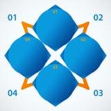 Abstrakcjonistyczni błękitni lements. Sieć sztandary Obrazy Stock