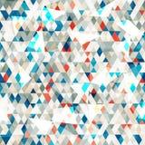 Abstrakcjonistyczni błękitni szklani trójboki bezszwowi z grunge skutkiem Zdjęcia Stock