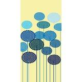 abstrakcjonistyczni błękitny kwiaty Fotografia Royalty Free