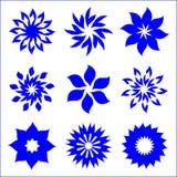 abstrakcjonistyczni błękitny kwiaty Zdjęcie Stock