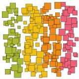 Abstrakcjonistyczni bańczaści złoto zieleni menchii kwadraty Obraz Stock