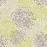 Abstrakcjonistyczni bezszwowi round kształty Zdjęcia Royalty Free