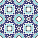 Abstrakcjonistyczni bezszwowi wzory w Islamskim stylu również zwrócić corel ilustracji wektora Obraz Stock